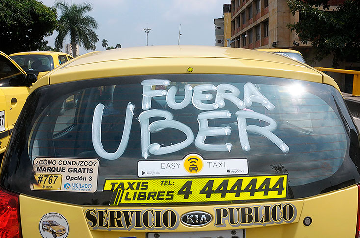 Uber stopt in Colombia