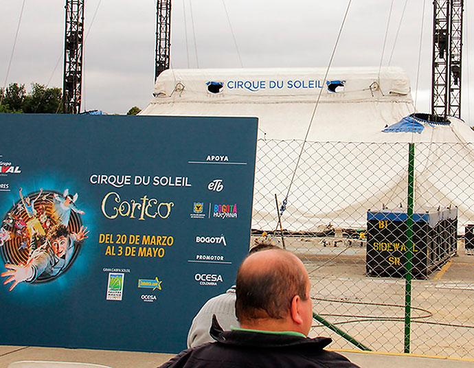 Cirque Du Soleil levantó su carpa en Colombia
