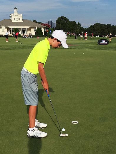 Esteban Jaramillo, el niño prodigio del golf colombiano