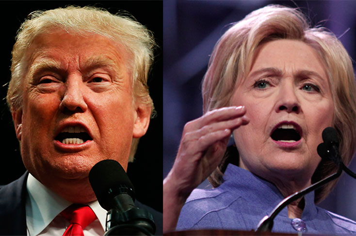 Trump supera a Clinton en dos estados clave
