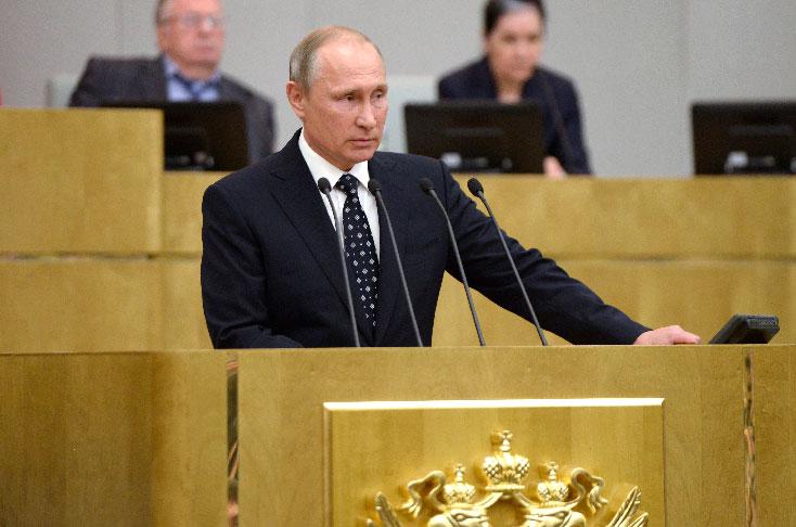 Putin se granjea la lealtad de la Duma al abrir nueva legislatura
