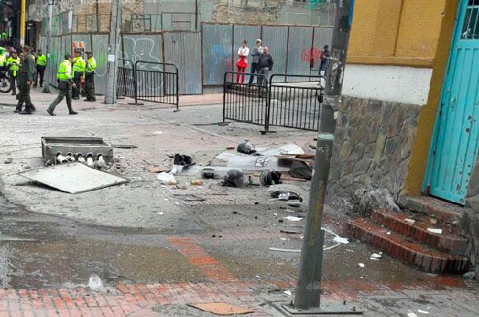 El Presidente Santos rechazó ataque contra policías en Bogotá