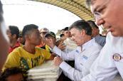 Presidente Santos llegó a Cúcuta para revisar situación en la frontera