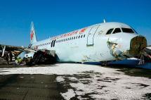 Avión A320 de Air Canadá se salió de pista al aterrizar