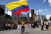 En video: así se movilizaron los maestros en Bogotá