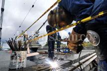 Avanzan los trabajos de reforzamiento del puente de Juanchito