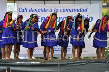 En video: con baile y rituales tradicionales los Embera Katío le dijeron adiós a Cali