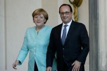 Hollande y Merkel dejan la