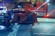 Un muerto y un herido en accidente de tránsito en el túnel de la Avenida Colombia