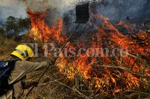 Grave incendio forestal se registró en Menga, en límites entre Cali y Yumbo
