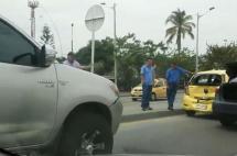 Choque entre ocho vehículos en la Autopista Suroriental no dejó lesionados