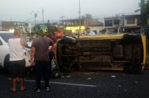Dos lesionados deja accidente en la Autopista Suroriental con Calle 52