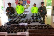 Encuentran depósito ilegal de armas en zona rural de Pradera