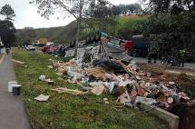 Un herido en aparatoso accidente de tránsito en vía Buga - Buenaventura