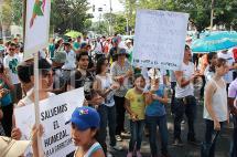 Protesta en Ciudad Jardín por construcción de vía que afectaría un humedal