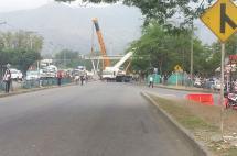 Cierre parcial en la Calle 70 por instalación de puente peatonal
