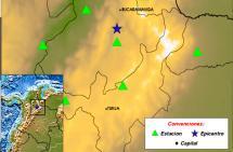 Temblor de magnitud  4,4 se sintió este sábado en Santander