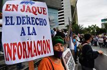 Periodistas venezolanos marcharon contra censura del gobierno de Maduro