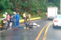 Motociclista murió en accidente de tránsito en la vía al mar
