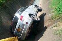 Un herido dejó accidente de tránsito en la Autopista Suroriental