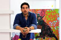 'Gomas', el caleño que transforma las fachadas del barrio San Antonio con obras de arte