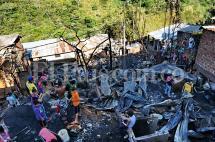 En fotos: las familias de la ladera de Cali a las que el fuego les quitó su casa