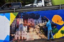 Cali estrena mural de fotografías en la Avenida Circunvalar