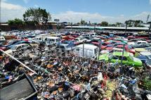 Patios del Tránsito, al borde del colapso con 21 mil vehículos inmovilizados