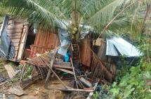 Una vivienda colapsada y siete más afectadas por fuertes lluvias en Buenaventura