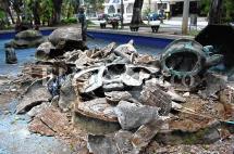 En video: reducido a escombros, así amaneció el Monumento a la Infancia en el norte de Cali