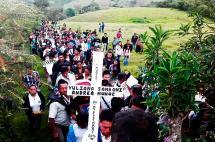 Habitantes de la vereda El Tambo dieron el último adiós a Yuliana Samboní