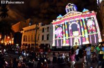 En video: el show de 'mapping' que deslumbra a caleños en la Catedral de San Pedro