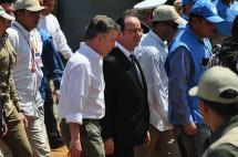 El recorrido del presidente Hollande por una zona veredal del Cauca en fotos