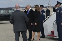 En fotos: así fue la llegada de Trump y su familia a Washington