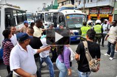 Paro de transportadores de buses y busetas causó daños y caos en Cali