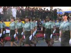 Cali celebró su Bicentenario con un desfile de la Fuerza Pública