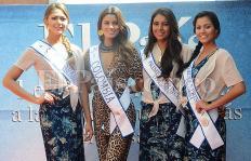 Señorita Colombia y su corte real de visita en El País