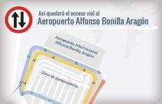 Gráfico: le mostramos los cambios en los accesos viales al Aeropuerto Alfonso Bonilla Aragón