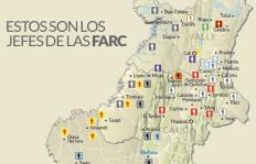 Infografía: la presencia de los jefes de las Farc en el Suroccidente del país