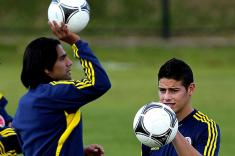 Falcao García y James Rodríguez se unieron a la selección Colombia