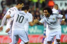James Rodríguez anotó gol en la victoria del Real Madrid ante el Eibar