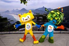 Un felino amarillo, mascota de Río 2016
