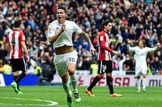 James Rodríguez anotó un golazo para Real Madrid ante Athletic de Bilbao