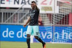 Mateo Casierra logró un doblete con el Ajax en el fútbol holandés