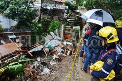 Colapso de vivienda y caída de árbol, afectaciones de las lluvias este sábado