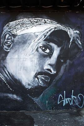 Esta pared en Los Ángeles, EE.UU. fue dedicada a la memoria del rapero estadounidense Tupac Shakur.<br>Elpais.com.co / AFP