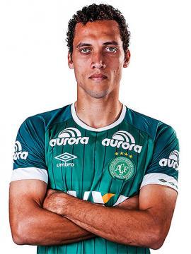 Helio Hermito Neto, futbolista del Chapecoense.<br>Foto: Página del Chapecoense