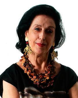 Agueda Pizarro, viuda del maestro Omar Rayo.<br>