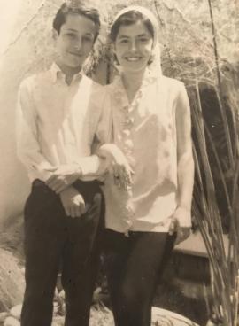 Andrés y Rosario, a la edad de 14 y 15 años. <br>Archivo personal de Rosario Caicedo