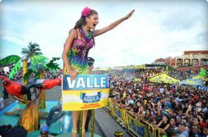 Señorita Valle, ganadora en la Batalla de las Flores